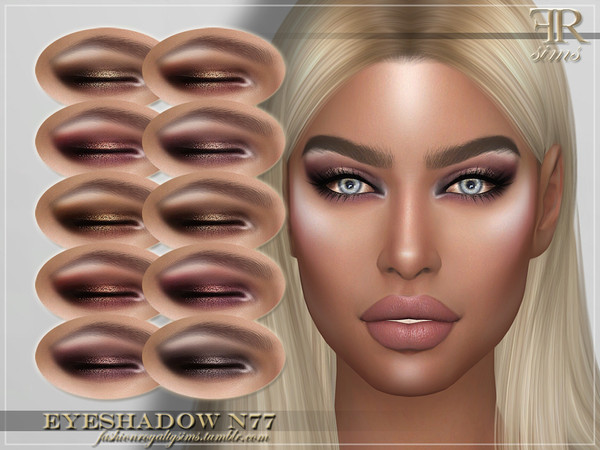 Sims 4 FRS Eyeshadow N77 by FashionRoyaltySims at TSR