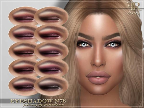 Sims 4 FRS Eyeshadow N78 by FashionRoyaltySims at TSR