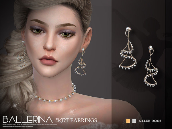 EARRINGS 202005 by S Club LL at TSR image 5615 Sims 4 Updates