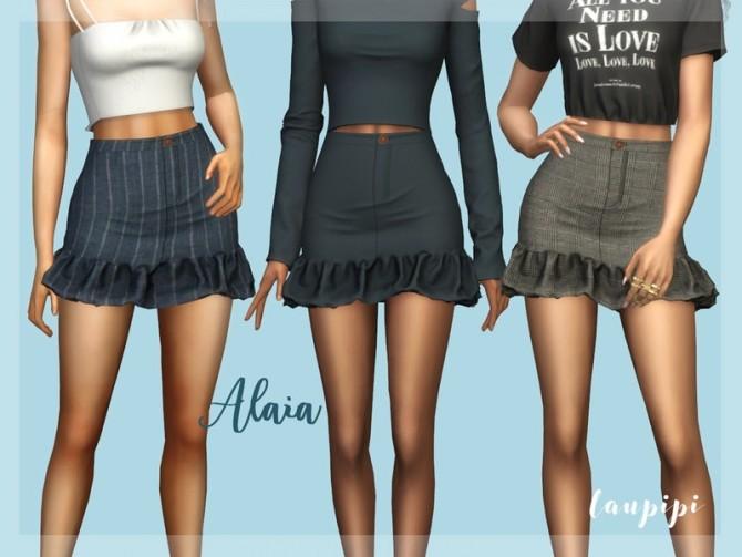 Sims 4 Alaia skirt by laupipi at TSR