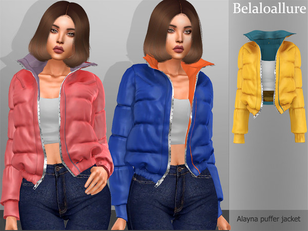 Sims 4 Alayana jacket by Belaloallure at TSR