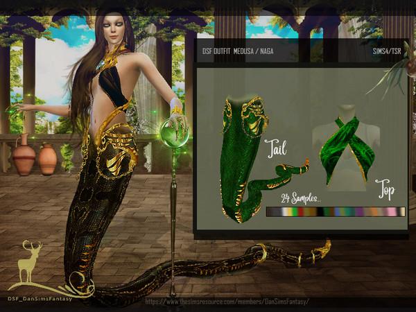 Sims 4 DSF OUTFIT MEDUSA & NAGA by DanSimsFantasy at TSR