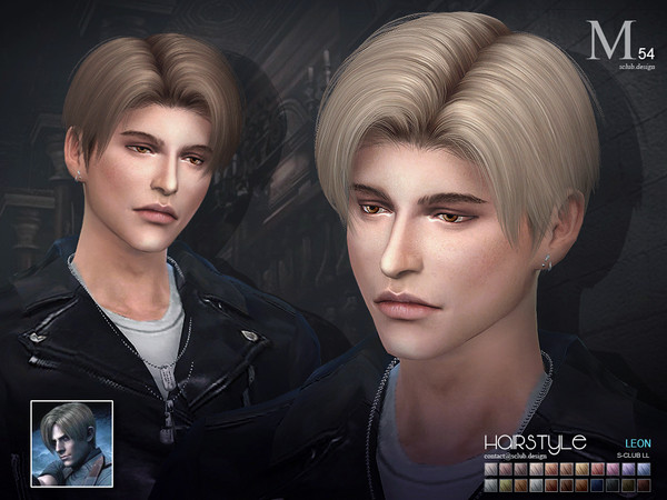 Hair leon n54 by S Club LL at TSR image 5715 Sims 4 Updates