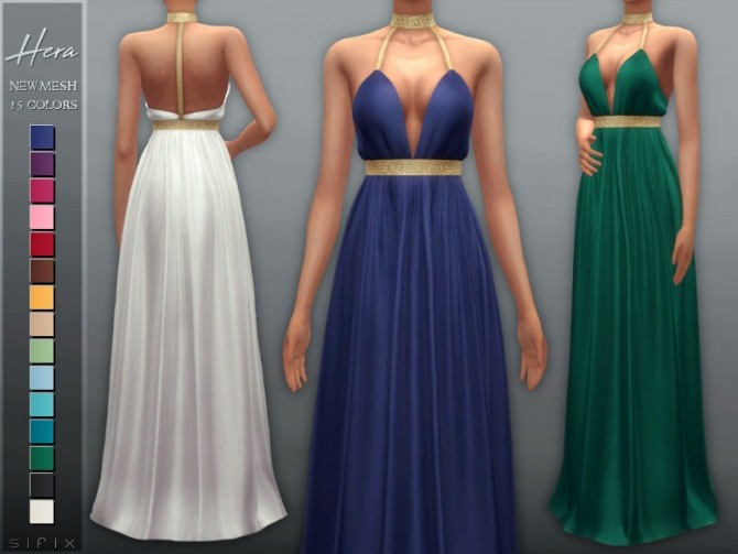 Sims 4 Hera Dress by Sifix at TSR