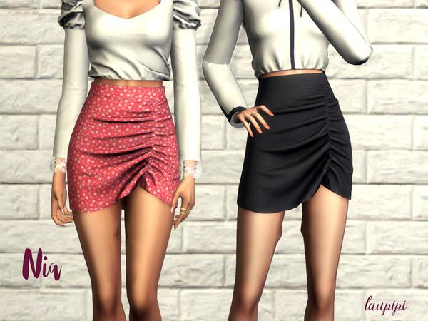 Sims 4 Nia skirt by laupipi at TSR