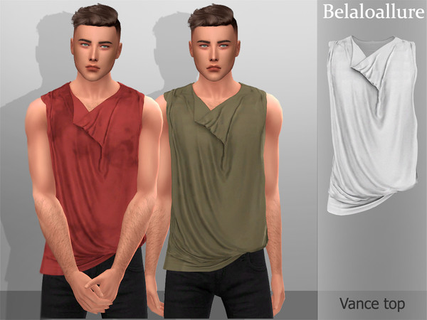 Belaloallure Vance top by belal1997 at TSR image 5810 Sims 4 Updates