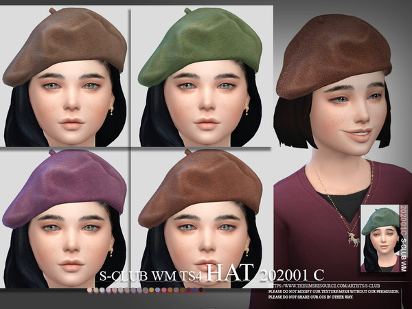 Hat 202001 C by S Club WM at TSR image 586 Sims 4 Updates