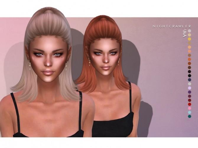 Sims 4 Lava HAIR by Nightcrawler at TSR