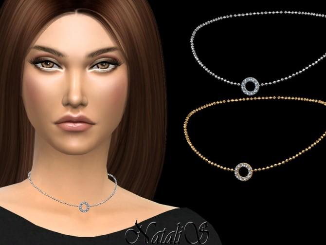 Sims 4 Open round halo choker by NataliS at TSR