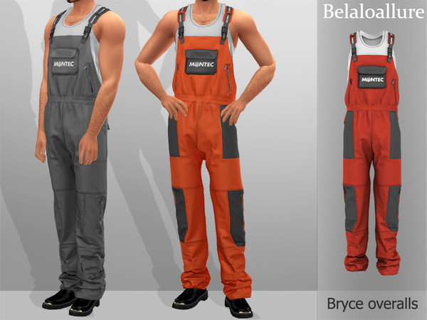 Sims 4 Belaloallure Bryce overalls by belal1997 at TSR