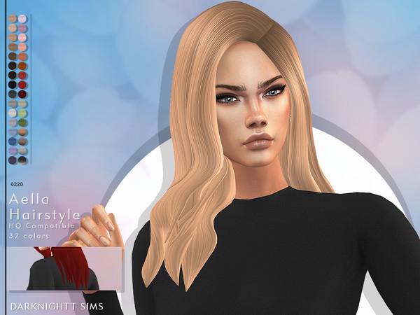 Sims 4 Aella Hairstyle by DarkNighTt at TSR