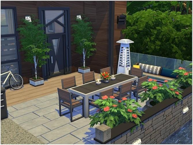 Sims 4 Tiny Square modern house by lotsbymanal at TSR