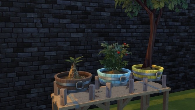 Barrel planter pot by Serinion at Mod The Sims image 6111 670x377 Sims 4 Updates