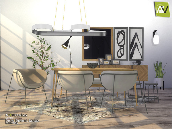 Dion Dining Room by ArtVitalex at TSR image 6115 Sims 4 Updates
