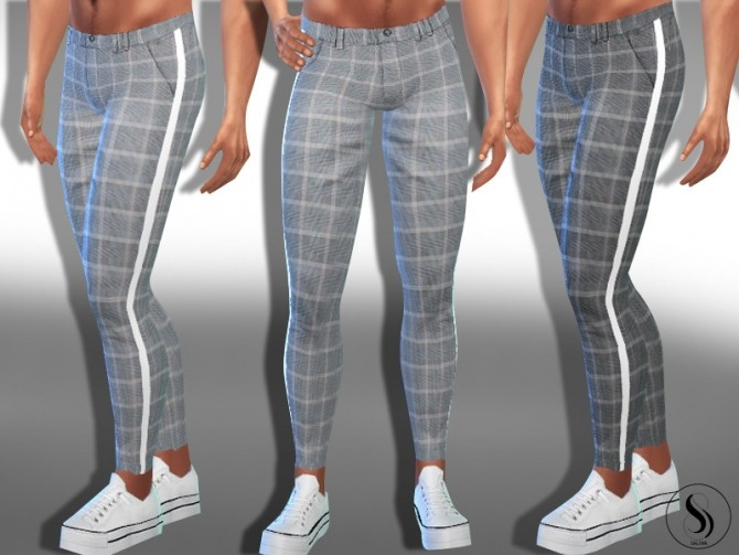 Male Sims Plaid Soft Skinny Pants by Saliwa at TSR image 6122 670x503 Sims 4 Updates