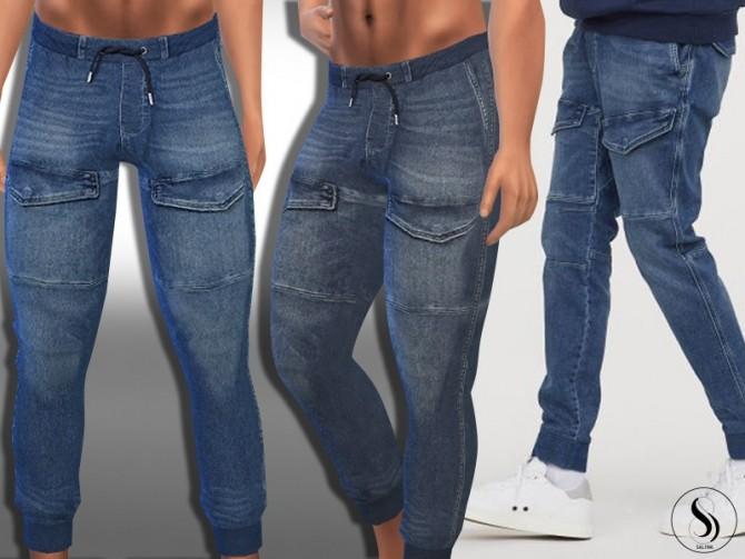 Sims 4 Denim Front Pocket Jogger Pants by Saliwa at TSR
