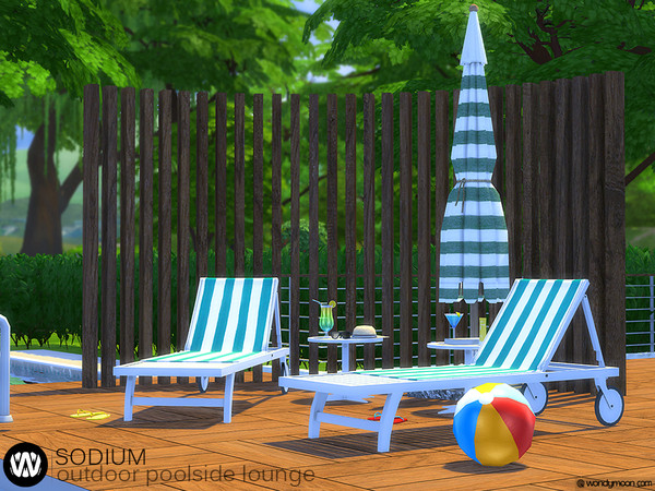 Sodium Outdoor Poolside Lounge by wondymoon at TSR image 614 Sims 4 Updates