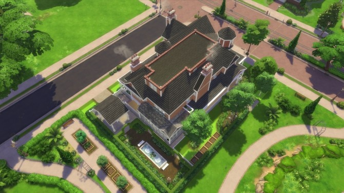 Sims 4 Red Victorian 2020 by CarlDillynson at Mod The Sims