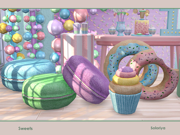 Sims 4 Sweets party set by soloriya at TSR