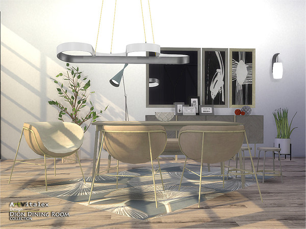 Dion Dining Room by ArtVitalex at TSR image 6212 Sims 4 Updates