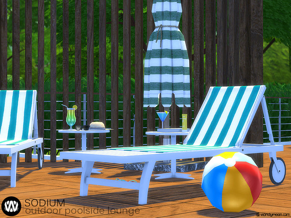 Sodium Outdoor Poolside Lounge by wondymoon at TSR image 623 Sims 4 Updates