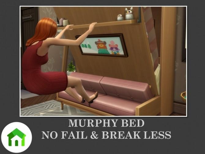 Sims 4 Murphy Bed No Fail & Break Less by Teknikah at Mod The Sims