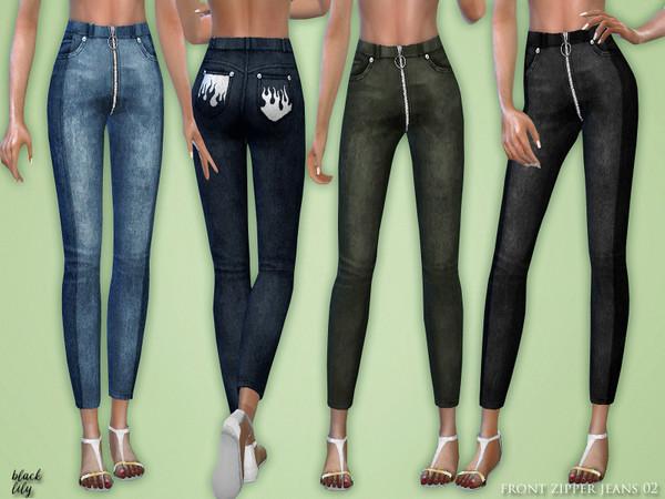 Front Zipper Jeans 02 by Black Lily at TSR image 625 Sims 4 Updates