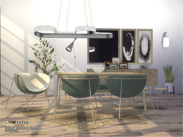 Dion Dining Room by ArtVitalex at TSR image 6311 Sims 4 Updates