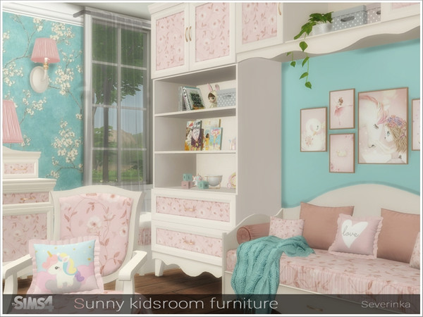 Sunny kidsroom furniture by Severinka at TSR image 6313 Sims 4 Updates