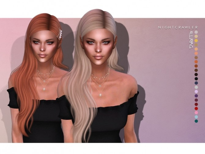 Alluring Hair SET by Nightcrawler at TSR image 6316 670x503 Sims 4 Updates