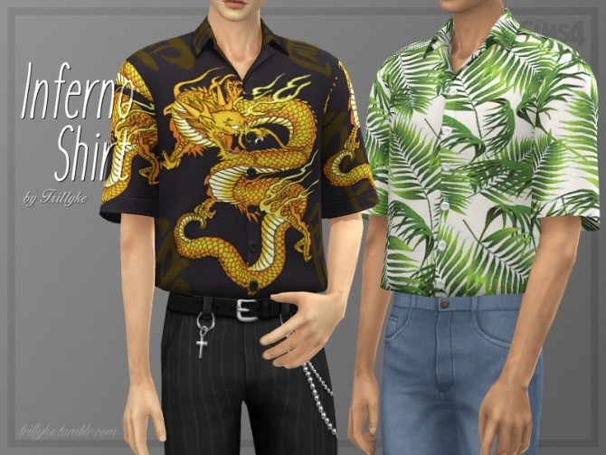 Sims 4 Inferno Shirt by Trillyke at TSR