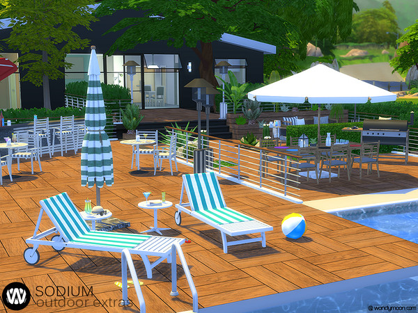Sodium Outdoor Poolside Lounge by wondymoon at TSR image 633 Sims 4 Updates