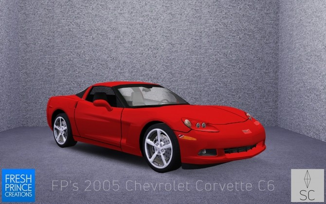 FPs 2005 Chevrolet Corvette C6 by SimsCraft at Mod The Sims image 637 670x419 Sims 4 Updates