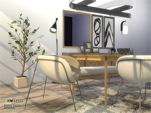 Dion Dining Room by ArtVitalex at TSR image 6411 Sims 4 Updates