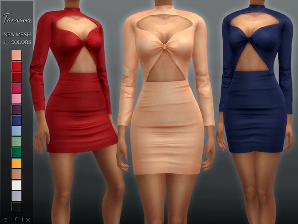 Sims 4 Tamsin Dress by Sifix at TSR