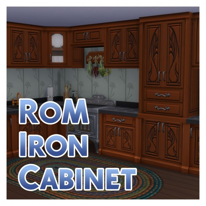 Sims 4 Iron Cabinet to match Realm of Magic Iron Counter by Menaceman44 at Mod The Sims