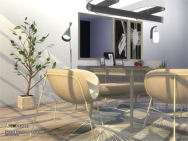 Dion Dining Room by ArtVitalex at TSR image 6511 Sims 4 Updates