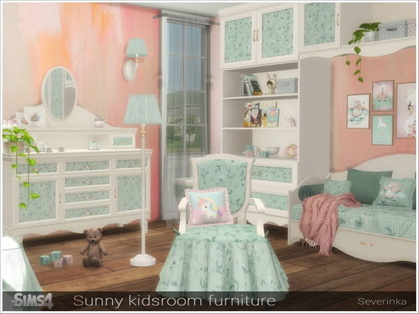 Sunny kidsroom furniture by Severinka at TSR image 6513 Sims 4 Updates