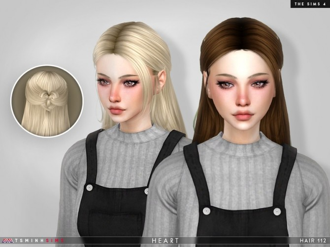 Heart Hair 112 by TsminhSims at TSR image 6521 670x503 Sims 4 Updates