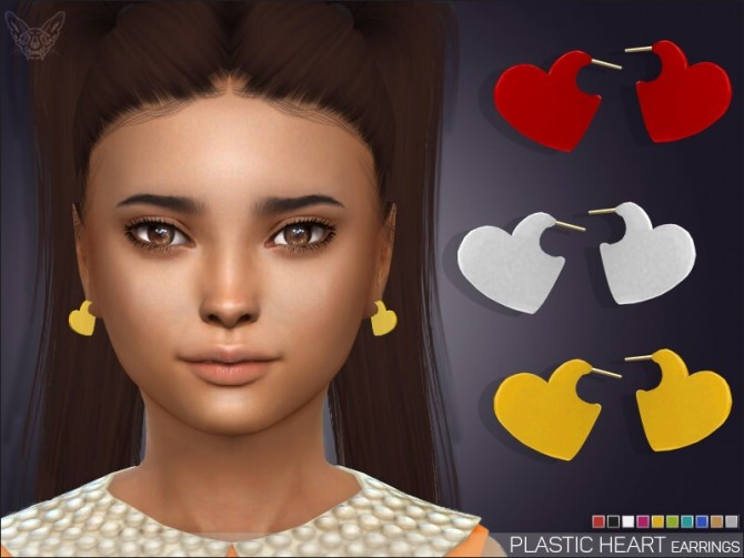 Plastic Heart Earrings For Kids at Giulietta image 6611 670x503 Sims 4 Updates