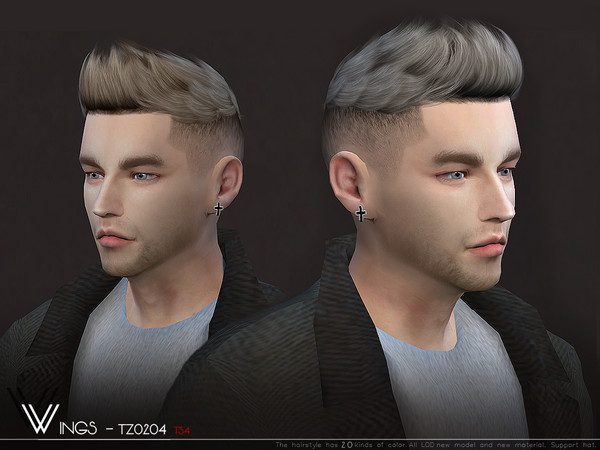 WINGS TZ0204 hair for males by wingssims at TSR image 662 Sims 4 Updates