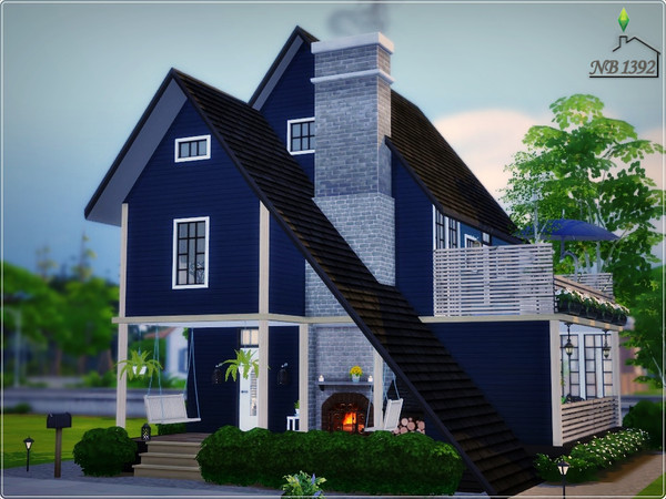 Sims 4 Light in the Dark house by nobody1392 at TSR