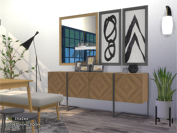 Dion Dining Room by ArtVitalex at TSR image 6711 Sims 4 Updates
