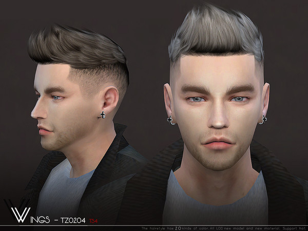 WINGS TZ0204 hair for males by wingssims at TSR image 672 Sims 4 Updates