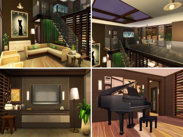 Sims 4 Oceanfront Modern House by Bidomaudo at TSR