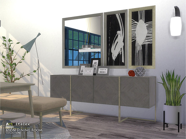 Dion Dining Room by ArtVitalex at TSR image 6811 Sims 4 Updates