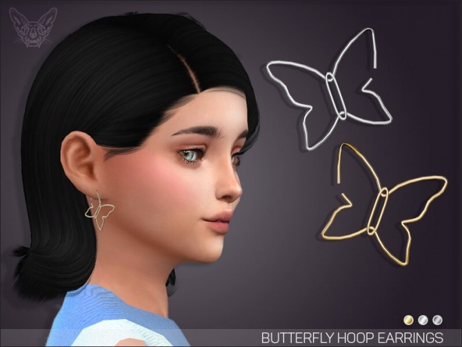 Butterfly Hoop Earrings For Kids at Giulietta image 6812 670x503 Sims 4 Updates