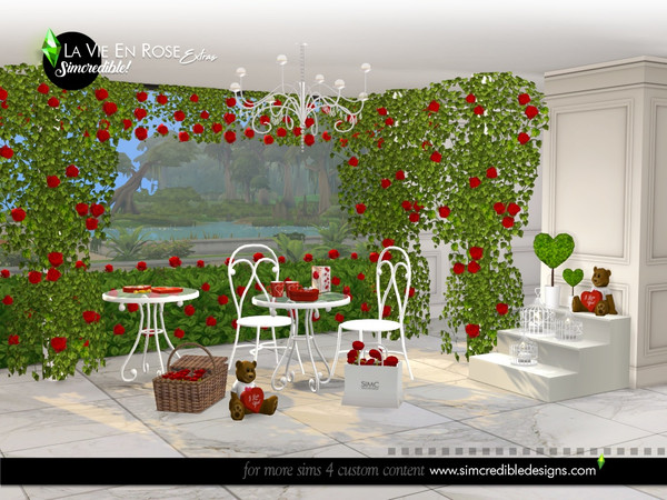 La vie en rose extras by SIMcredible at TSR image 6910 Sims 4 Updates