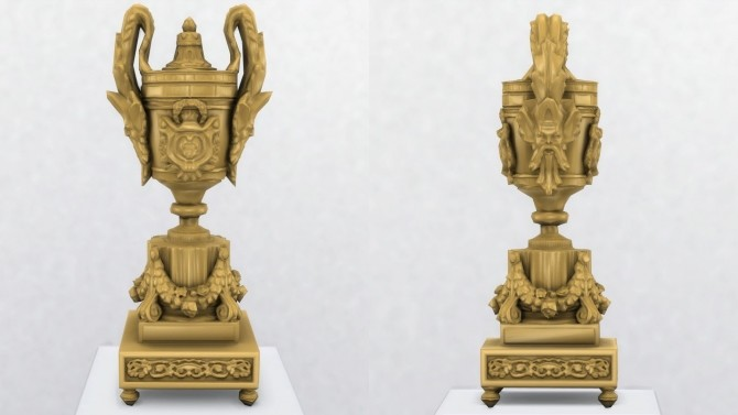 Sims 4 Louis XVI Style Pendule a Cercles Tournants by TheJim07 at Mod The Sims