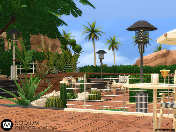 Sodium Outdoor Extras by wondymoon at TSR image 695 Sims 4 Updates